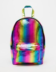 Asos Mini Festival Rainbow Backpack Multi