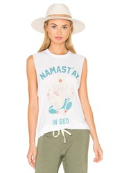 The Laundry Room Namastay In Bed Muscle Tee White