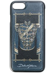 Dolce And Gabbana Soldier Print Iphone 7 Case Blue