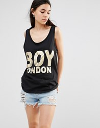 Boy London Vest Black Gold