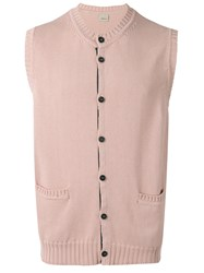 Lardini Sleeveless Cardigan Pink Purple