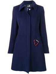 Love Moschino Perfectly Fitted Coat Blue