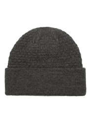 Topman Grey Charcoal Cable Knit Beanie