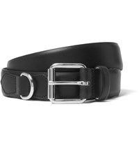 A.P.C. 3Cm Black Fabien Leather Belt Black