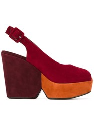 Robert Clergerie 'Dylan' Wedge Sandals Red