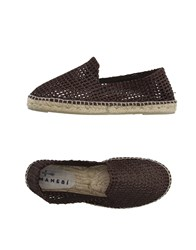 Manebi Footwear Espadrilles Men Dark Brown