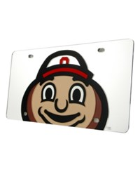 Stockdale Ohio State Buckeyes Laser Tag License Plate Silver