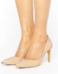 Ted Baker Moniira Point Court Shoe Nude Pat Leather Beige