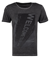 Selected Homme Shwelcome Print Tshirt Pirate Black