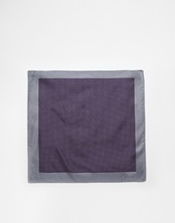 Ted Baker Silk Pocket Square Purple