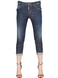 Dsquared Cool Girl Cropped Denim Jeans W Patches