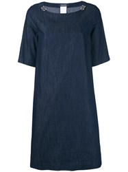 Max Mara 'S Denim T Shirt Dress Women Cotton 36 Blue