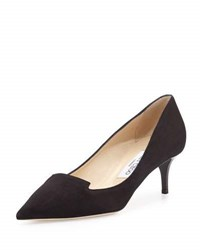Jimmy Choo Allure Suede Kitten Heel Pump Black