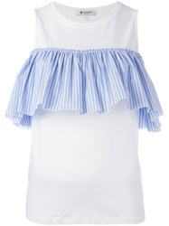 Dondup Pleated Trim Top White