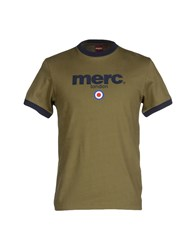 Merc Topwear T Shirts Men Military Green