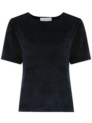 Lilly Sarti Velvet T Shirt Blue