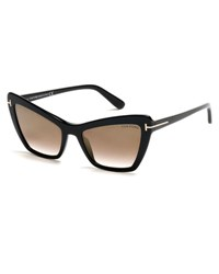 Tom Ford Valesca Cat Eye Flash Sunglasses Gold Black