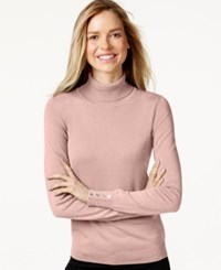 Charter Club Long Sleeve Turtleneck Sweater Only At Macy's Whipped Berry