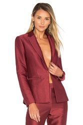 Blaque Label Fitted Blazer Burgundy