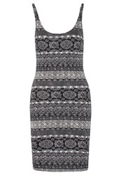 Evenandodd Jersey Dress Black White