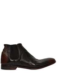 Alberto Fasciani Hand Brushed Horse Leather Low Boots Brown