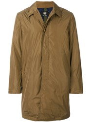 Paul Smith Ps By Single Breasted Coat Nylon Polyester L Brown