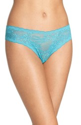 Cosabella Women's 'Trenta' Low Rise Lace Thong Sea Green