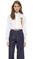 Jacquemus Carrot Cropped Button Down Carotte