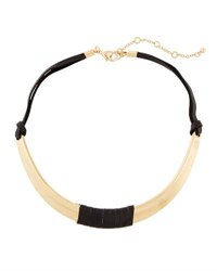 Panacea Suede Wrapped Collar Necklace Black