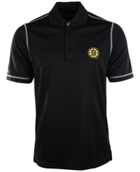 Antigua Men's Short Sleeve Boston Bruins Icon Polo Black White
