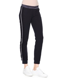 Callens Striped Cotton Sweatpants Navy White