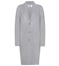 Acne Studios Avalon Double Wool And Cashmere Coat Grey