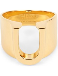 Chloe Alphabet U Ring Gold