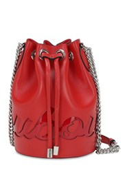 Christian Louboutin Mary Jane Logo Leather Bucket Bag Red