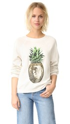 Wildfox Couture Party Pineapple Sweater Alabaster
