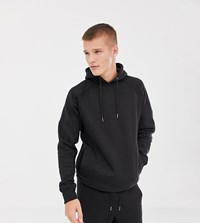 Another Influence Tall Ribbed Panel Overhead Hoodie Black