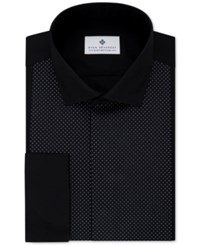 Ryan Seacrest Distinction Men's Evening Collection Slim Fit Non Iron French Cuff Dress Shirt Only At Macy's Black Dot Bib