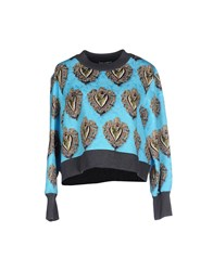 Dolce And Gabbana Topwear Sweatshirts Women Sky Blue