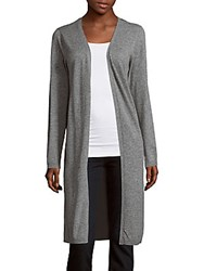 Zero Degrees Celsius Textured Open Front Cardigan Light Grey