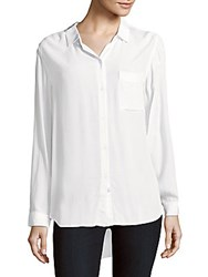 Rails Aly Solid Button Up Shirt White