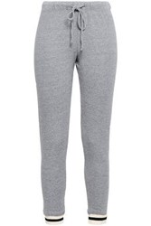 Monrow French Terry Track Pants Gray
