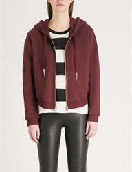 The Kooples Embroidered Cotton Jersey Hoody Bur01