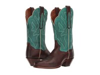 Dan Post Darby Chocolate Turquoise Cowboy Boots Brown