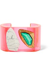 Stella Mccartney Plexy And Resin Cuff Pink