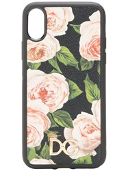 Dolce And Gabbana Floral Iphone Case Black