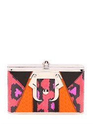 Paula Cademartori Cocca Ayers And Leather Clutch