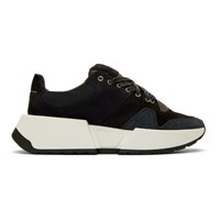 Maison Martin Margiela Mm6 Black And Navy Flare Sneakers