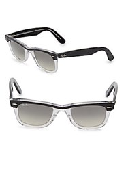 Ray Ban Logo Clear Wayfarer Sunglasses Black