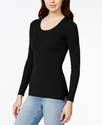 Maison Jules Ribbed Scoop Neck Sweater Only At Macy's