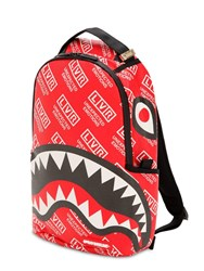 Sprayground Lvr Edition Small Logo Printed Backpack Red